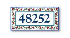 Plaque d'adresse numéros d'adresse plaque de numéros | Etsy Outdoor Welcome Sign, Outdoor Signs, Last Name Signs, Family Name Signs, Address Numbers, Address Plaque, House Number Plaque, House Numbers, Ceramic Houses