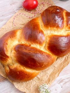 Tsoureki - Greek Easter sweet bread   my baking saga Greek Sweet Bread Recipe, Greek Easter Bread, Easter Bread Recipe, Tsoureki Recipe, Dessert Recipes, Desserts, Greek Recipes, Saga, Yummy Food