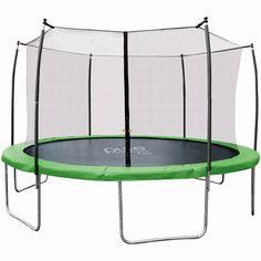 Indoor/Outdoor Dura-Bounce 12ft Back Yard Kids Adult Trampoline Safety Screened #PureFun