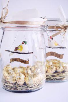 Rotkehlchen: DIY: Easter Gift - Bird in a Jar