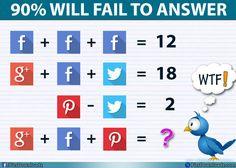 Google Facebook Pinterest = ?? Solve this Genius social puzzle image