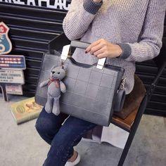 ... зимний осеннний сумочку корейский стеганный таволга медвежата пакет  ретро простой плечо посланник - Интернет магазин товаров из Китая и Кореи  Купи.kz 4a851d971f2