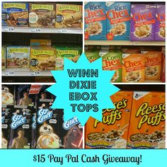 Winn Dixie eBox Tops - Enter to win $15 in Pay Pal cash! Ends 1/31/16. #ad #giveaway #eBoxtopsatwinndixie