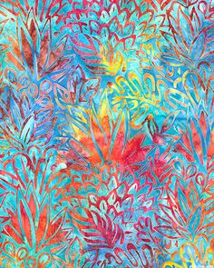 Totally Tropical 5 - Pineapple Grove Batik-Quilt Fabrics from www.eQuilter.com