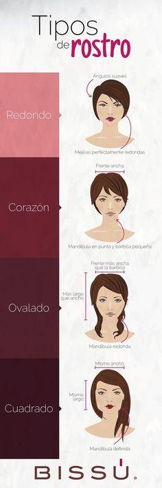 Identifica tu tipo de rostro. http://tiendaweb.bissu.com/
