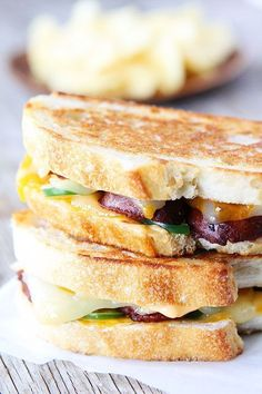 Chorizo Grilled Cheese with Chipotle Mayo Recipe on http://twopeasandtheirpod.com This sandwich is loaded with flavor! /maria/ Canavello Mrasek (Two Peas and Their Pod)