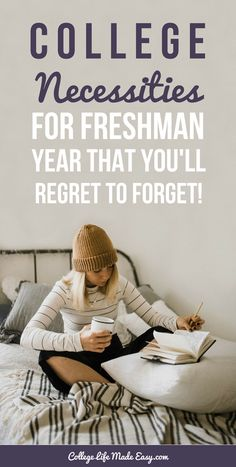 Freshman Year College Necessities, Essential items to pack with you. Tips for college students. #college #collegelife #collegeblogger