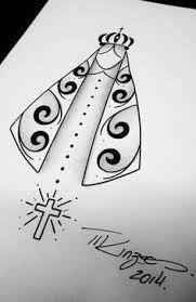 Resultado de imagem para tatuagem de nossa senhora