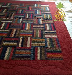 THE QUILTED PINEAPPLE: Log Jam quilted by Linda Hrcka