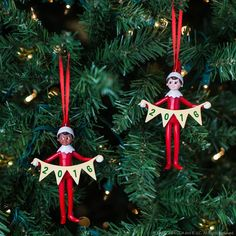 2016 Elf on the Shelf ornaments, now at Target. | Christmas Ornaments | Ideas for Scout Elves | Elf on the Shelf Ideas