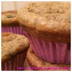 Muffins de yogur griego y plátano