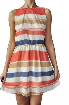 SELECT - ŚWIETNA SUKIENKA W PASY PASECZKI - 36 Summer Dresses, Fashion, Moda, Summer Sundresses, Fashion Styles, Fashion Illustrations, Summer Clothing, Summertime Outfits, Summer Outfit