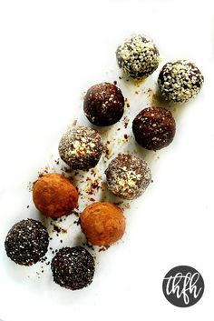 Crunchy Raw Protein Balls...a clean eating, healthy recipe for energy balls that's raw, vegan, gluten-free, dairy-free, paleo-friendly and no refined sugars.