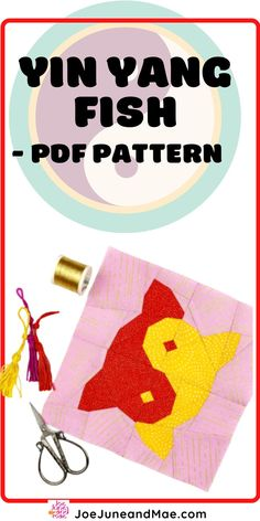 Beginner Quilt Patterns, Modern Quilt Patterns, Paper Piecing Patterns, Sewing Patterns, Quilting Tips, Quilting Projects, Quilting Designs, Fish Quilt Pattern, Pattern Blocks