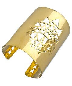 Karen London Gold Shiraz Wide Cuff Bracelet
