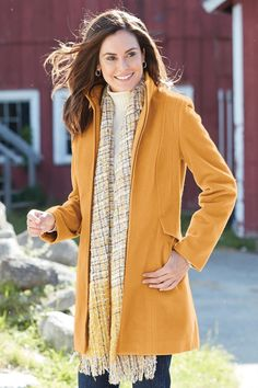 Zip-Front Stadium Jacket: Classic Women's Clothing from #ChadwicksofBoston $99.99