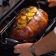 Garlic, orange and rosemary roast turkey
