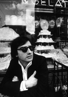Martin Scorcese at the Ferrara Cafe, New York City, 1974.
