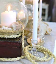 pillar candle in round vase