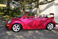 hot pink convertible vw beetle.  This is my ABSOLUTE FAVORITE color!!