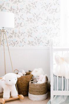 Blue Fl Baby Nursery Childrens Room Decor