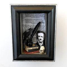 Edgar Allan Poe Shadow Box by NacreousAlchemy   LOVE THIS!!
