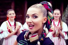 Watch the music video for Donatan's single Slavic Girls ft. Cleo with lyrics to sing along to. Junior Eurovision, Female Singers, Pop Music, Ponytail, Poland, Music Videos, Folk, Lyrics, Hair Styles