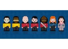 Looking for your next project? You're going to love Star Trek: TNG Cross Stitch Pattern by designer pxlpwr.