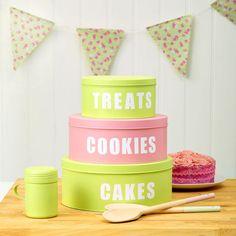Paint Stylish Cake Storage Tins For Your Kitchen prima.co.uk