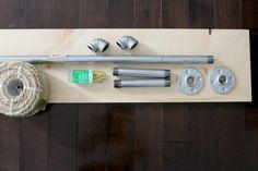 Como fazer sua própria estante de madeira suspensa