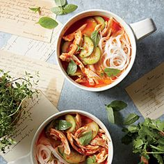 Curried Coconut Soup with Chicken Recipe | CookingLight.com #myplate, #protein, #veggies