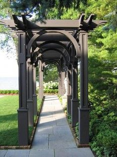 There are lots of pergola designs for you to choose from. You can choose the design based on various factors. First of all you have to decide where you are going to have your pergola and how much shade you want. Curved Pergola, Wooden Pergola, Pergola Shade, Pergola Ideas, Cheap Pergola, Pergola Lighting, Metal Pergola, Screened Gazebo, Backyards
