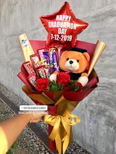 Order or enquiry's please Whatsapp us No : We provide delivery fo. - Graduation should be celebrated as the day of success, a long and . Happy Graduation Day, Graduation Celebration, Graduation Gifts, Flower Bouqet, Diy Flowers, Boquet, Graduation Flowers Bouquet, Chocolate Bouquet Diy, Graduation Balloons