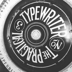 The typewriter  ~ #Typography #Inspiration