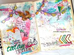 Chipboard-'Today is Perfect' Art Journaling by Kripa Koushik **Including a video tutorial** Art Journal Pages, Art Journals, Mixed Media Painting, Art Journal Inspiration, Altered Books, Mini Books, Tag Art, Hello Everyone, Paper Crafts