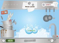"""Typing Chef is a fun game from Sense-Lang where students type what they see in the kitchen. You start out as a dish washer, then move up to vegetable chopper, on your way to head chef. Great Italian restaurant music plays while you type and the chef gives a not so subtle, """"Ahem"""" when you make a mistake."""