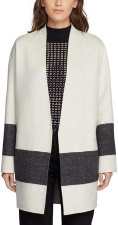 Elgin Blanket Coat – Blanc/ Black