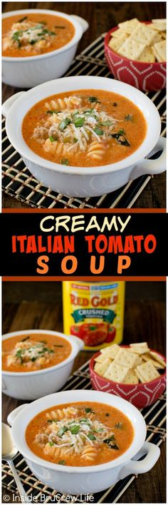 Creamy Italian Tomato Soup - this easy 30 minute meal is made in one pot. Great comfort food dinner recipe for busy or chilly nights!