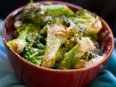 Two-ingredient Creamy Garlic Broccoli