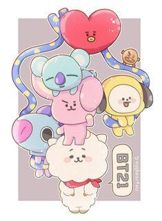 ideas for bts wallpaper backgrounds fanart Bts Wallpaper, Wallpaper Backgrounds, Fanart Kpop, Bts Cute, Line Friends, Bts Drawings, Bts Chibi, Bts Fans, I Love Bts