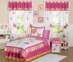 kinderzimmer vorhang mit bunten wimpeln weiß bedruckt ... - Gardinen Kinderzimmer Rosa Grun