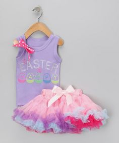 Another great find on #zulily! Lavender 'Easter' Tank & Pettiskirt - Infant, Toddler & Girls #zulilyfinds