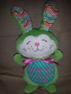 How cute is this? Celiac disease/Gluten Free Awareness Plush bunny  by MakaCraft, $20.99