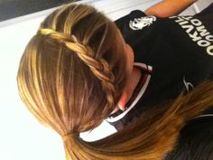 Quick and Easy Updo. For school, sports, or to be lazy.