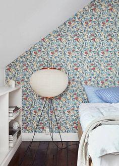 Blommig tapet i huset i Köpenhamn Decor, Color, Cool Stuff, Home Decor Decals, Home, Home Decor