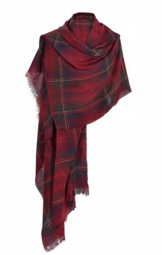 Cashmere Mix Wrap in Claret