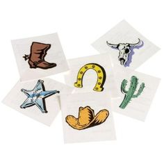 Western Temporary Tattoos for the goody bag!