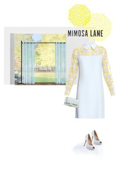 """mimosa"" by katymill ❤ liked on Polyvore featuring Pottery Barn, Improvements, Pour La Victoire, Carven, Chanel, Spring, dress, topset and invitation"
