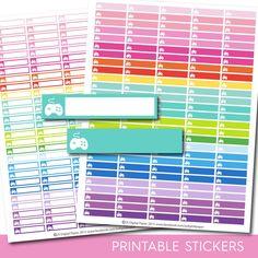 Gaming planner stickers, STI-177