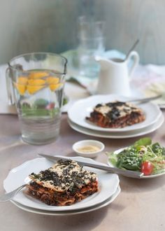 Vegetable Lasagna With Kale, Beluga Lentils